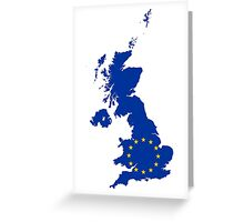 European Union Flag Map of United Kingdom Greeting Card