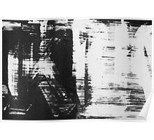 graffiti - black and white Poster