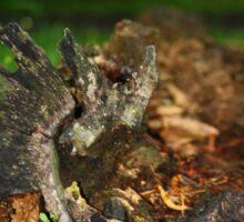 Rotting log Sticker