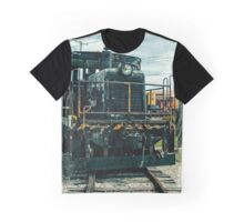 Vintage 8537 Army Train Graphic T-Shirt