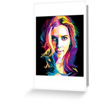 Scarlet Johansson | PolygonART Greeting Card