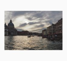 Venice, Italy - Pearly Skies on the Grand Canal Kids Tee