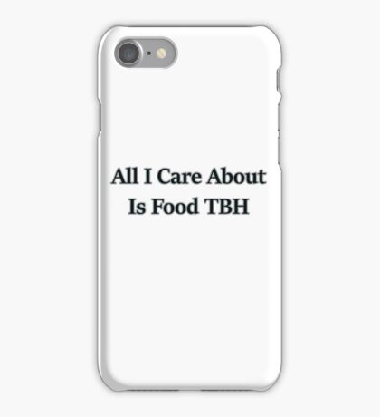 Food is More Important Than You  iPhone Case/Skin