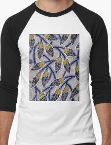 Abstract Floral Pattern Men's Baseball ¾ T-Shirt