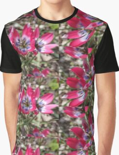 Pink spring garden flowers. Graphic T-Shirt