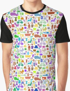 Shopping icons pattern with theme for sale Graphic T-Shirt