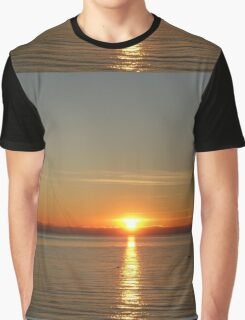 Beautiful  sunset, landscape picture.  BC, Canada. Graphic T-Shirt
