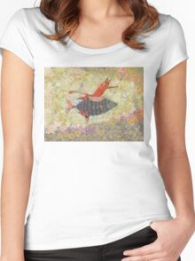 GOING FOR A RIDE Women's Fitted Scoop T-Shirt