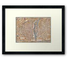 Original Paris: Around the world.. Wanderlust! Framed Print
