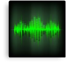 Abstract waveform music equalizer Canvas Print