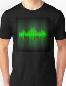 Abstract waveform music equalizer T-Shirt
