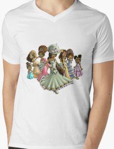 7 Princesses Mens V-Neck T-Shirt
