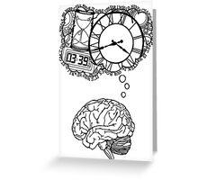 Where My Mind Goes Greeting Card