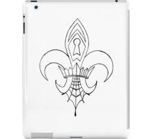 Spider web Fleur de Lis iPad Case/Skin