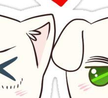 USUK Nekotalia Heads Sticker