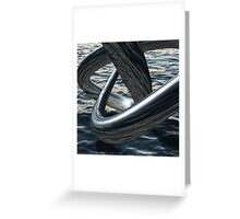 Supernatural flows of water above the sea Greeting Card