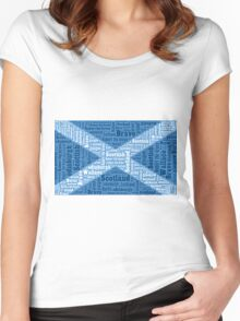 The Saltire Women's Fitted Scoop T-Shirt