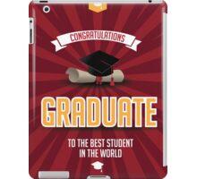 Congratulations graduate iPad Case/Skin