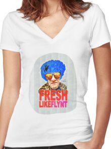 FRESH LIKE HANNIBAL FLYNT Women's Fitted V-Neck T-Shirt