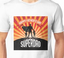 Happy Fathers Day Superdad burst Unisex T-Shirt