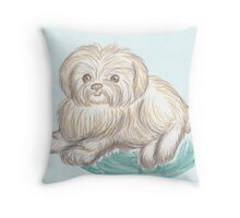 Scruffy Puppers Throw Pillow