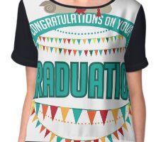 Graduation mortarboard and diploma design. Chiffon Top
