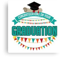 Graduation mortarboard and diploma design. Canvas Print