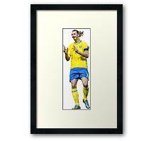 Zlatan Ibrahimovic - Sweden  Framed Print