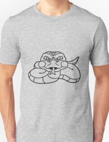 angry dangerous snake constrictor comic cartoon design Unisex T-Shirt