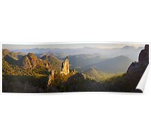 Bread Knife Dawn, Warrumbungles, New South Wales, Australia Poster