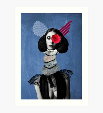 Surrealism, Surreal Collage, Whimsical Portrait, Geekery Art Print