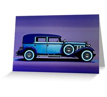 Cadillac V16 Painting Greeting Card