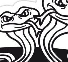 ground many small evil dangerous comic cartoon snakes bande hole Sticker