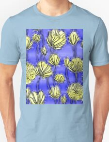 Energetic Flower Pattern, yellow and blue 2 T-Shirt