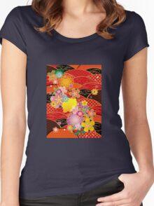 Japanese kimono 4 Women's Fitted Scoop T-Shirt