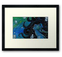 Bubbly Flow Framed Print