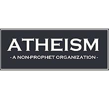 Atheism Photographic Print