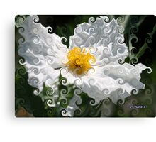 WHIMSICAL WHITE FANTASY FLOWER Canvas Print
