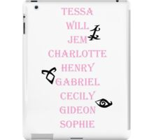 Infernal Devices Character Names iPad Case/Skin