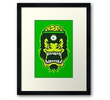 Irradiated Gorilla Brains Framed Print