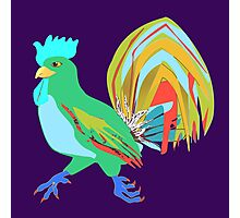 Feathery Noisemaker in Scream Green Photographic Print