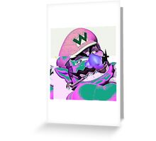 Lit Wario Greeting Card