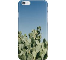 Large Prickly Pear Cactus against Blue Sky iPhone Case/Skin