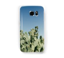 Large Prickly Pear Cactus against Blue Sky Samsung Galaxy Case/Skin