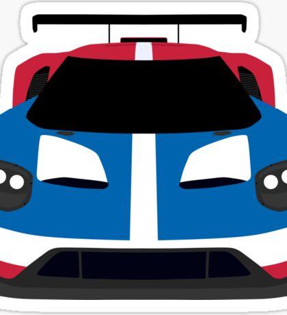 GT Race car simplistic design Sticker