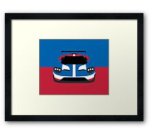 GT Race car simplistic design Framed Print