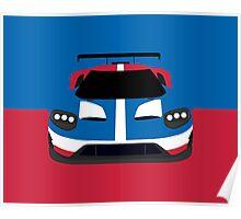 GT Race car simplistic design Poster