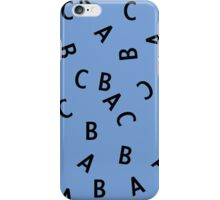 Alphabet ABC Letter Pattern iPhone Case/Skin
