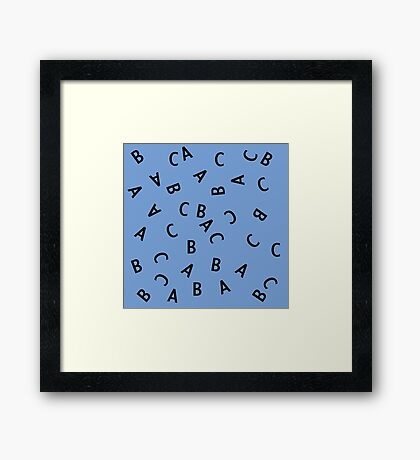 Alphabet ABC Letter Pattern Framed Print