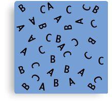 Alphabet ABC Letter Pattern Canvas Print